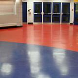 Arena resistant MaxFlor rubber flooring