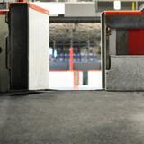 Plancher de caoutchouc X-Mat installé dans un aréna