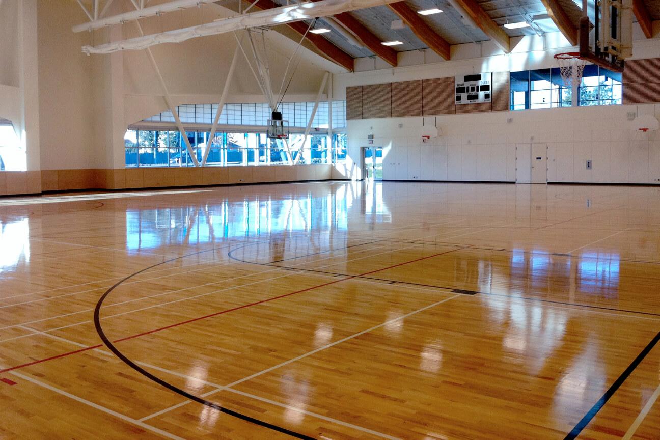 Action gymnasium flooring at Cloverdale Recreation Centre (Surrey, British Columbia)