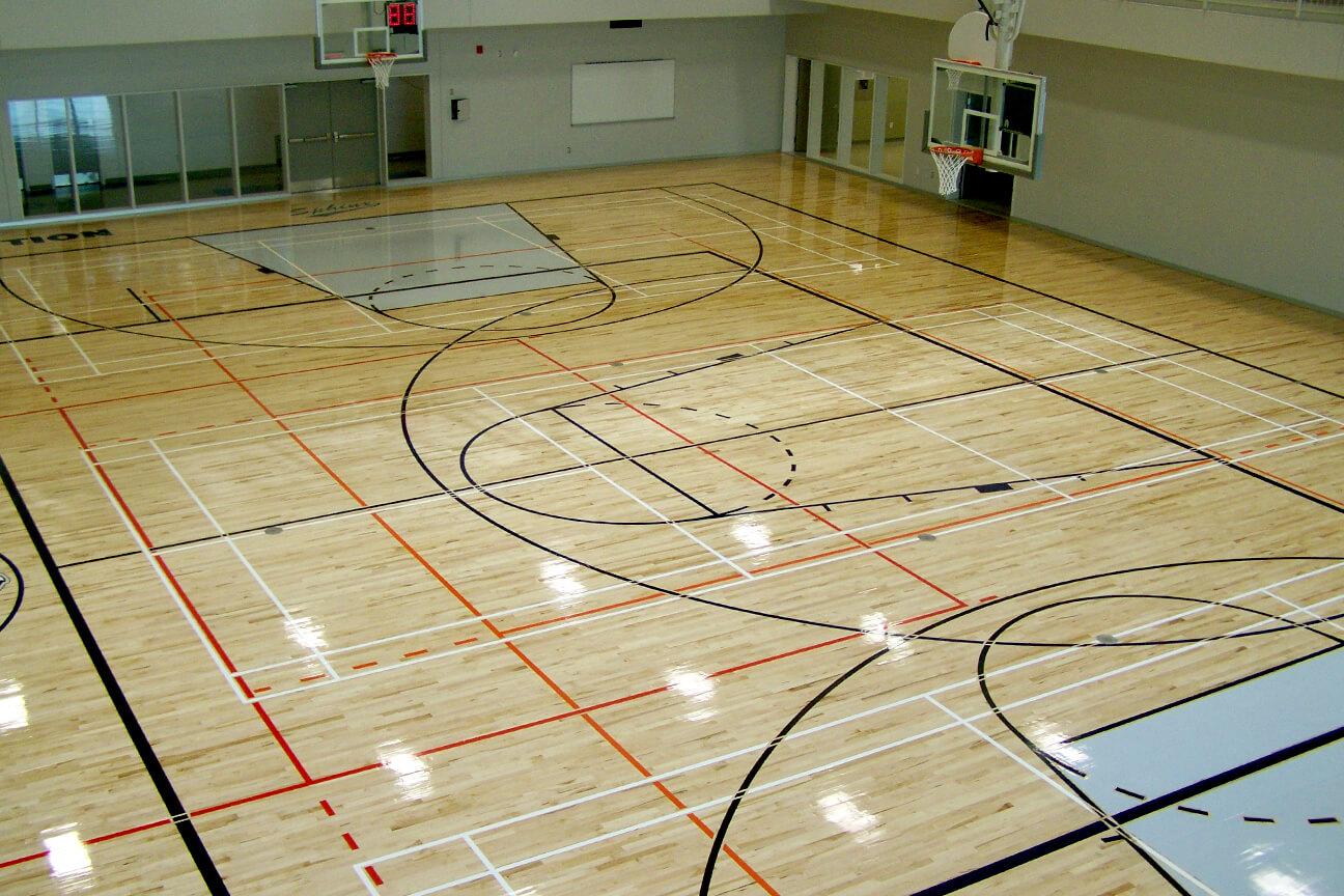 Gymnasium flooring Action hardwood at De l'Assomption College (l'Assomption, Quebec)