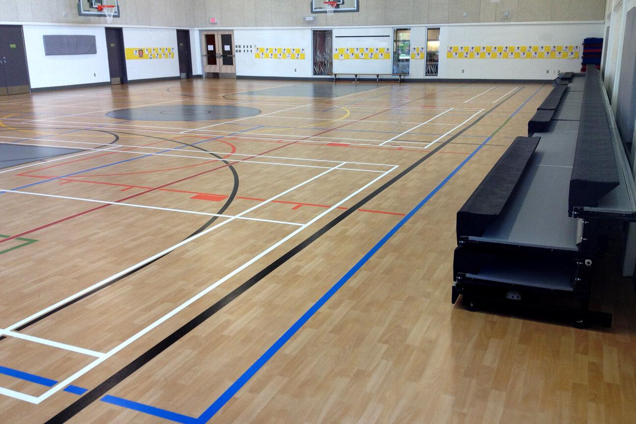 Gymnasium flooring Omnisports 8.3 at Douglas Park Elementary School (Langley, British Columbia)