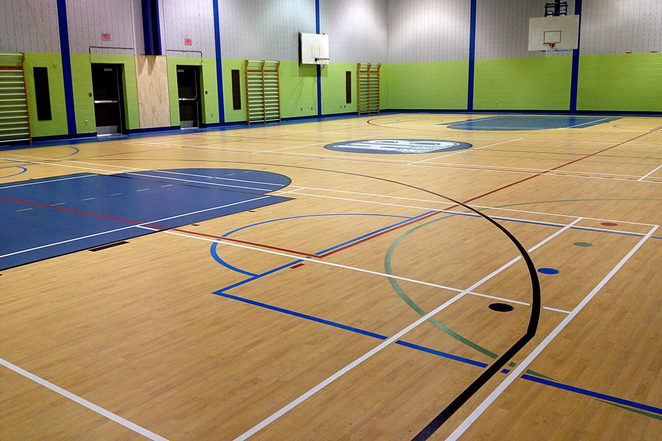 Gymnasium flooring Omnisports 6.5 at Hauts-Bois Elementary School (Mascouche, Quebec)