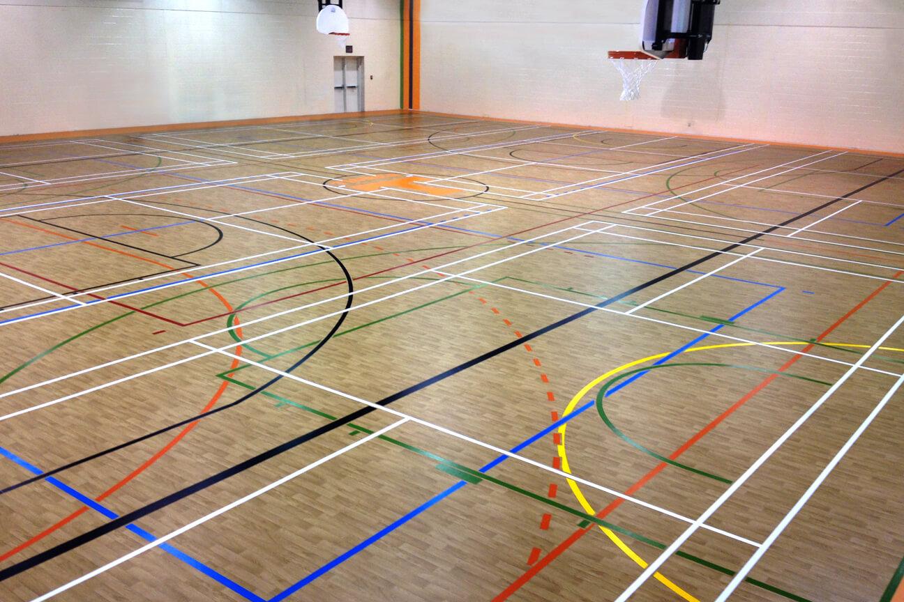 Gymnasium flooring Omnisports 3.5 at Hormisdas-Gamelin High School (Buckingham, Quebec)