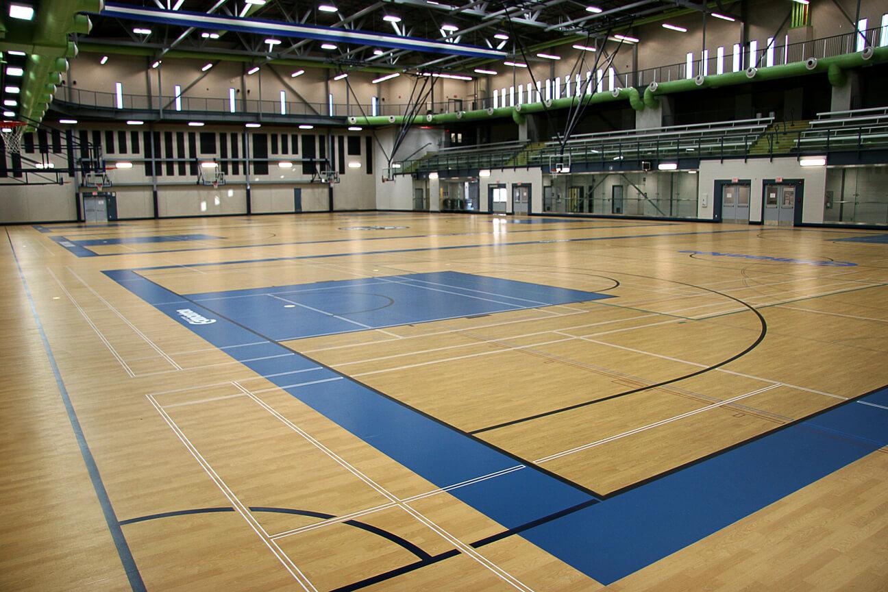 Gymnasium flooring Kinesport at St. Francis Xavier University (Edmonton, Alberta)