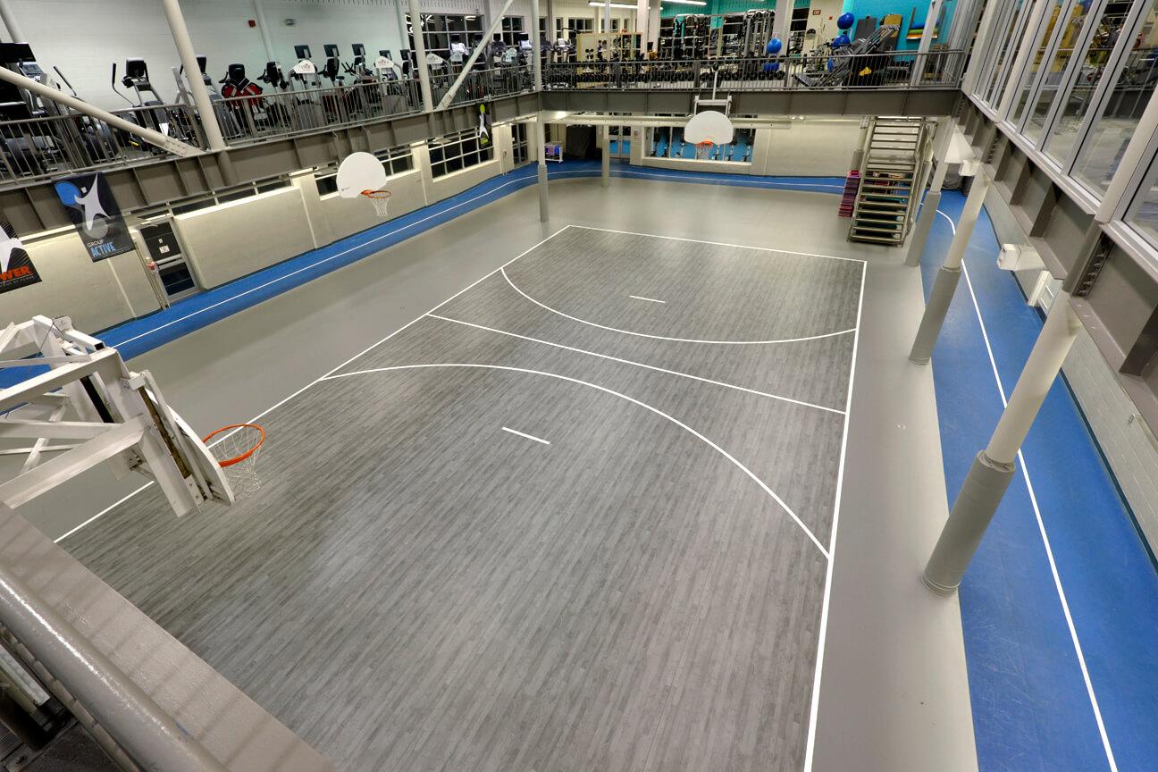 Gymnasium flooring Omnisports 6.5 at the YMCA-YWCA (Guelph, Ontario)