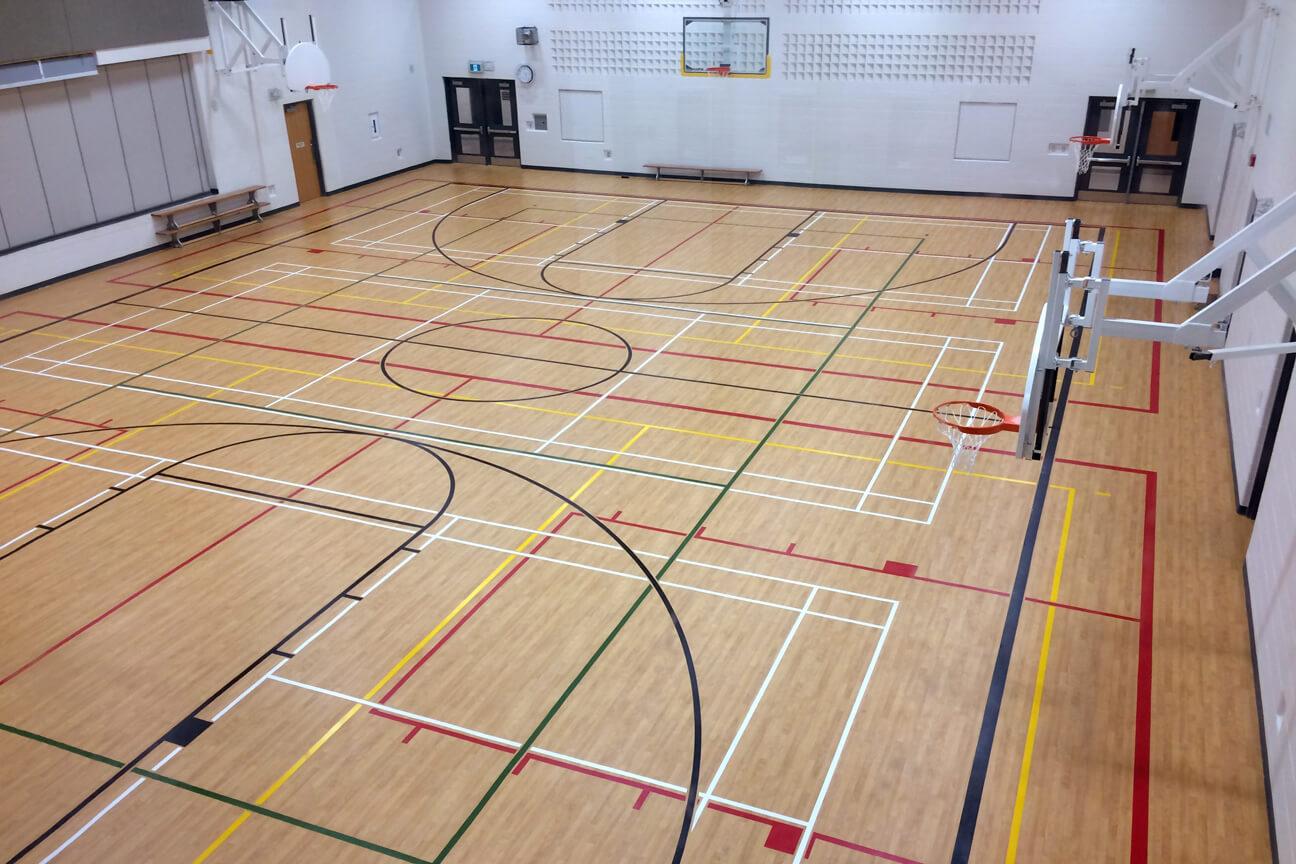 Gymnasium flooring Omnisports 6.5 at St. Gregory the Great Catholic Elementary School (Oakville, Ontario)