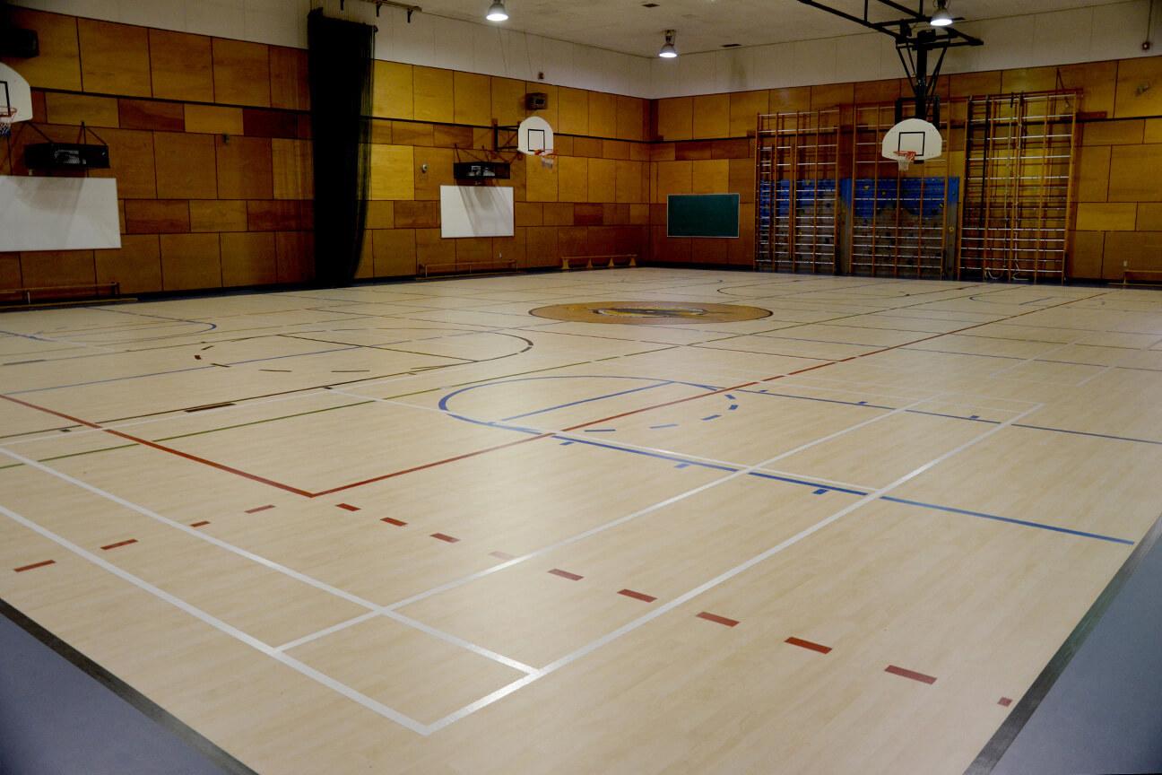 Gymnasium flooring Omnisports 6.5 at Quatre-Vents School (Mirabel, Quebec)