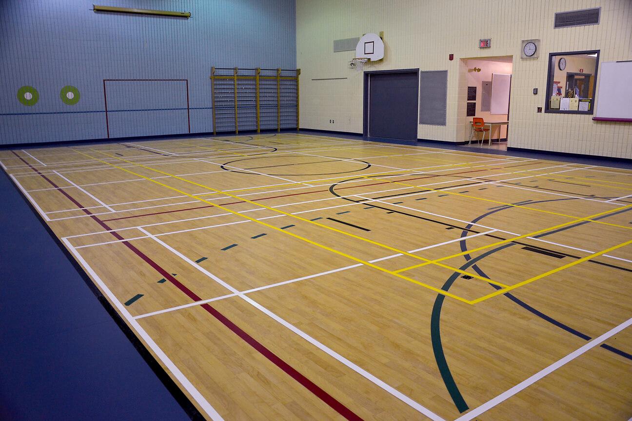 Gymnasium flooring Omnisports 6.5 at Saint-Joseph School (Mercier, Quebec)