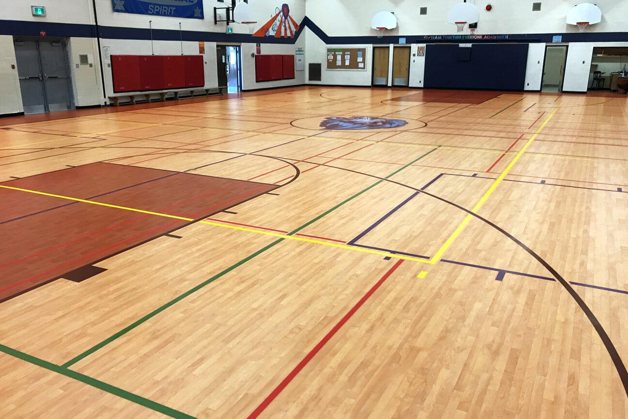 Gymnasium flooring Omnisports 6.5 at Centennial Public School (Cambridge, Ontario)