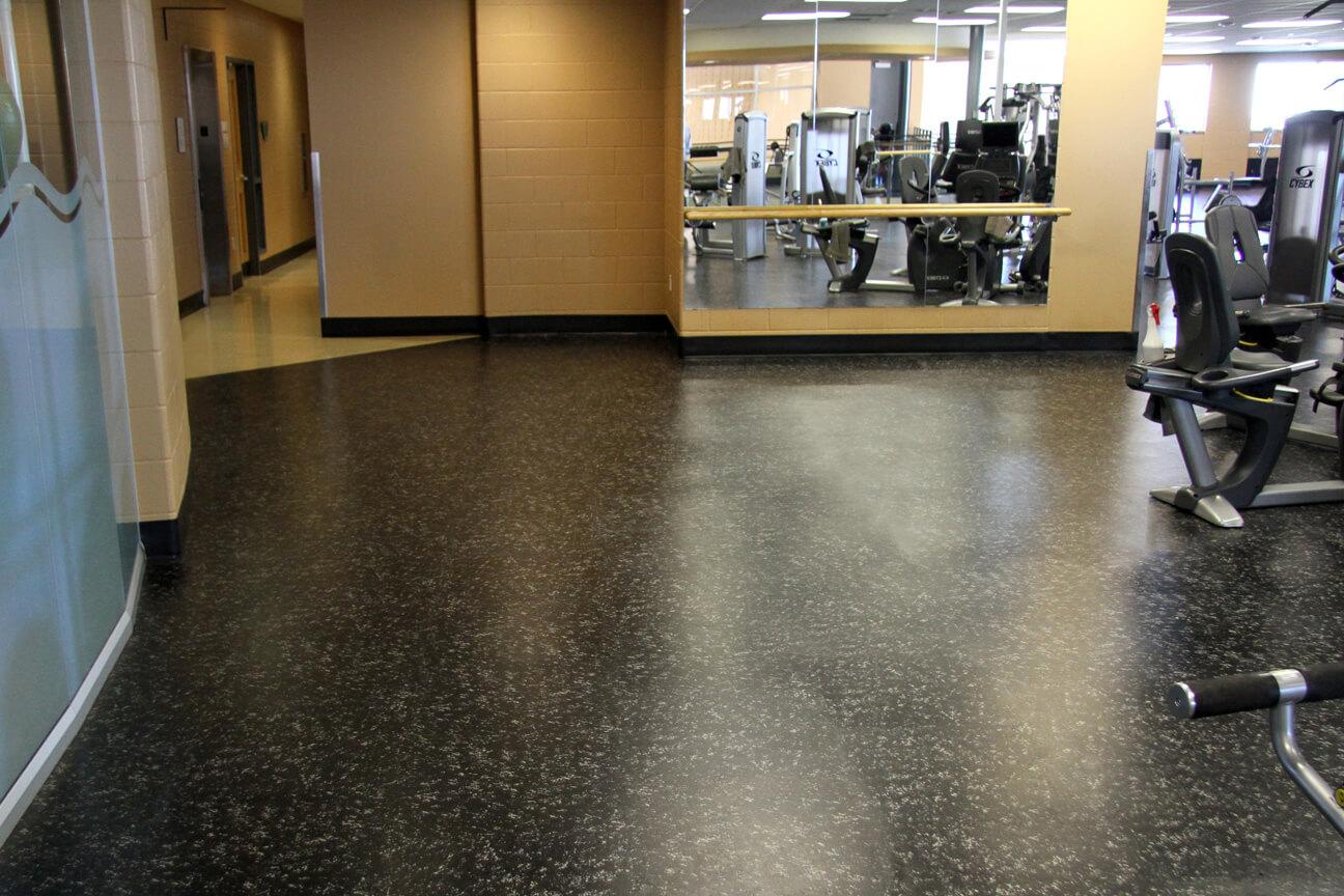Gym flooring Deko rubber at the YMCA Flamborough (Waterdown, Ontario)