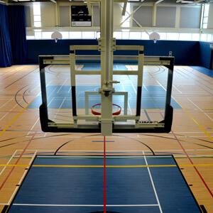 Basketball net at Durocher College