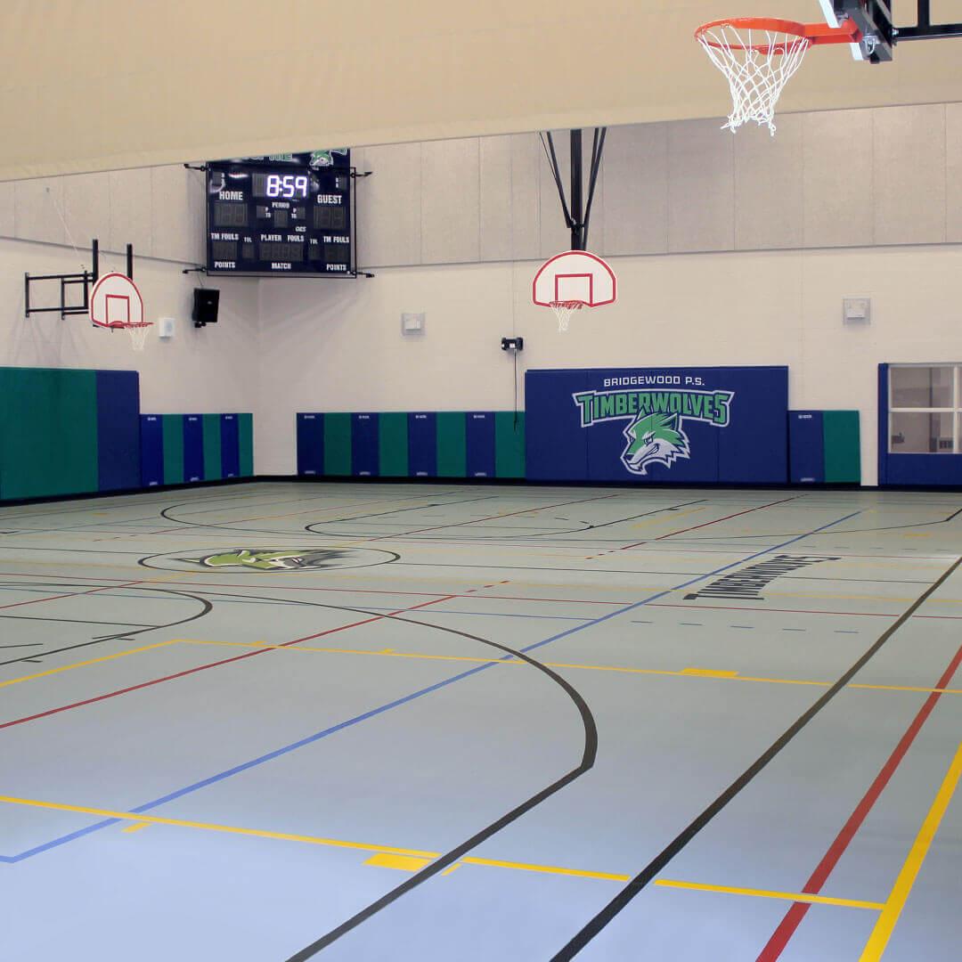 Poured polyurethane school gymnasium